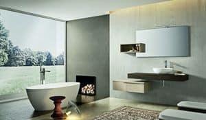 Kyros 109, Badezimmer-Schrank mit Bibliothek über dem Spiegel