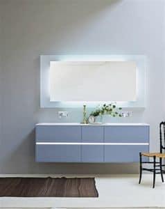 badezimmer schrank mit zwei gro en schubladen aufsatzwaschtisch idfdesign. Black Bedroom Furniture Sets. Home Design Ideas