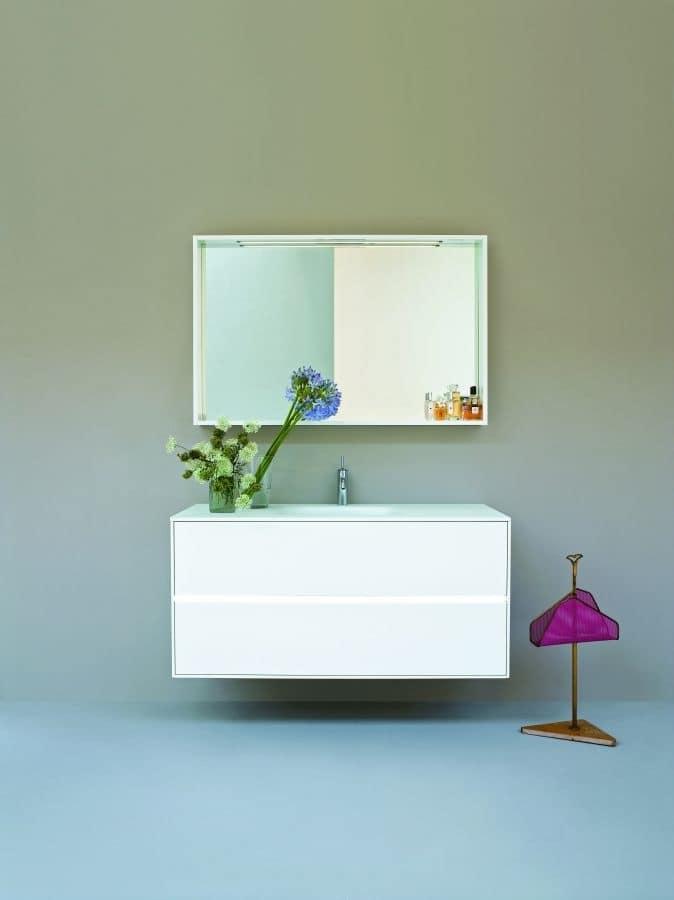 badezimmer schrank mit zwei schubladen mit integriertem waschbecken idfdesign. Black Bedroom Furniture Sets. Home Design Ideas