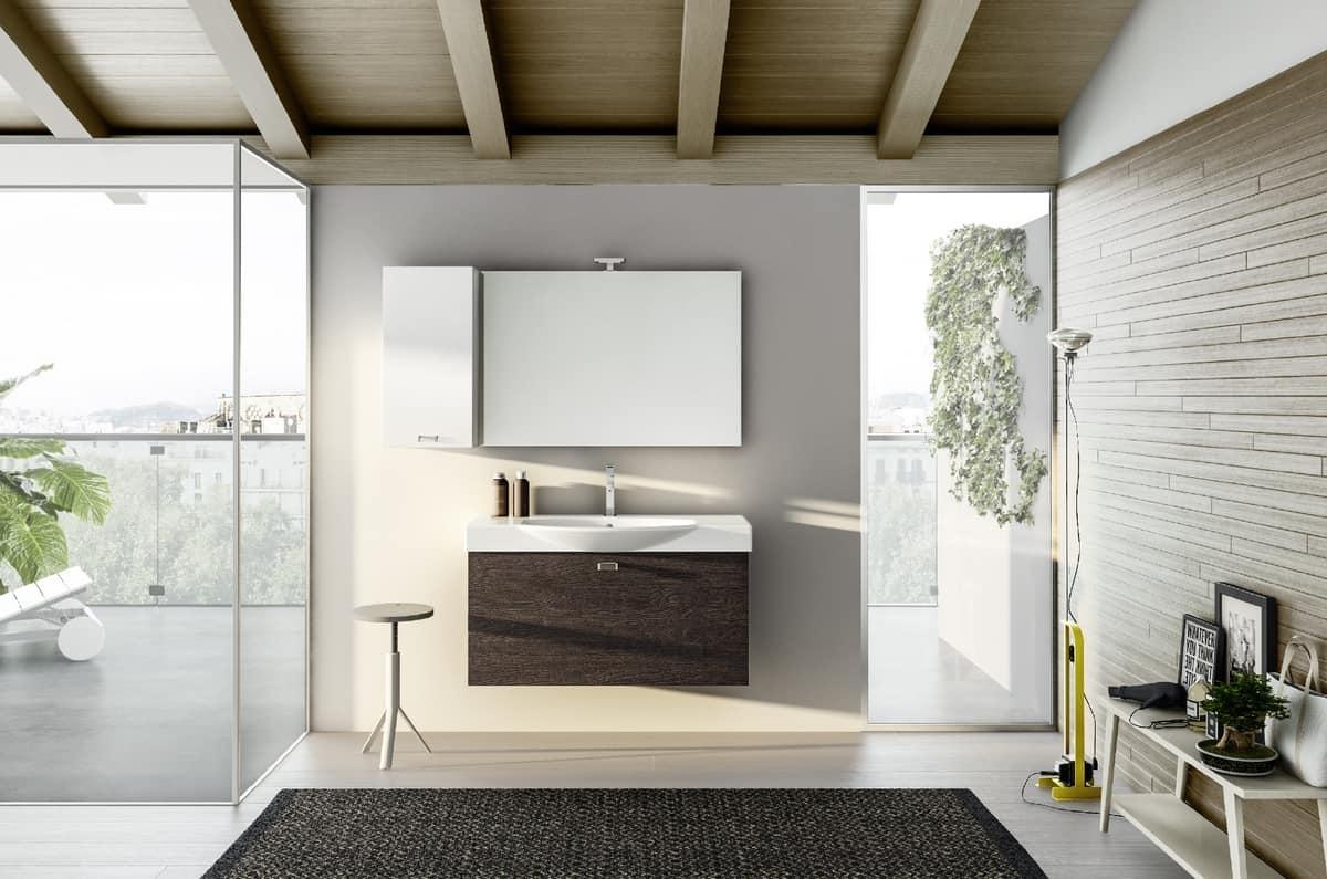 Wand Badezimmerschrank Spiegel Mit Led Licht Idfdesign