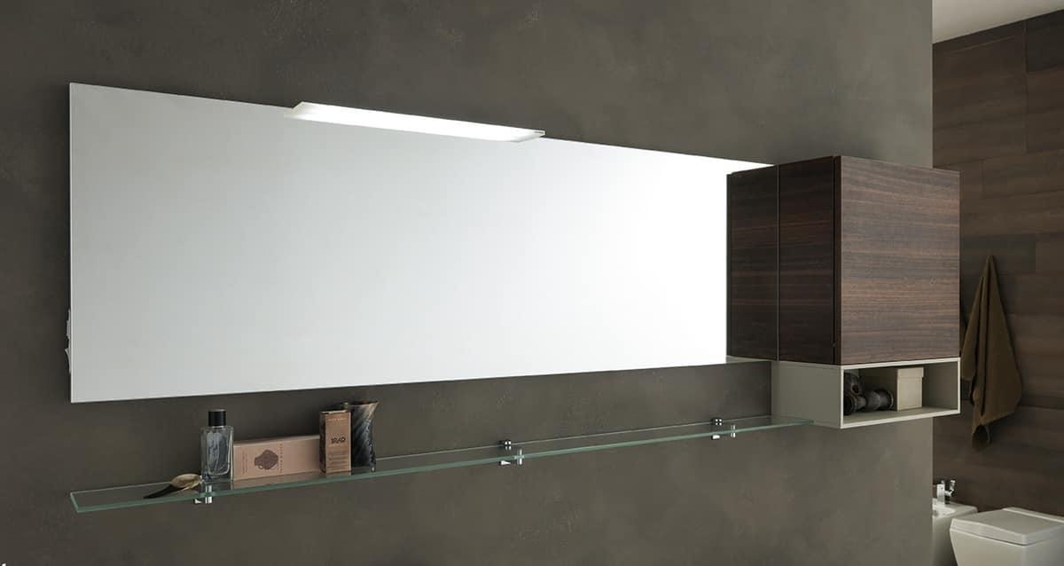 Lime Ø comp.40, Badezimmermöbel mit großem Waschbecken und Regalen