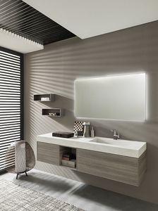 Lime Ø comp.41, Badezimmerzusammensetzung, mit hinterleuchtetem Spiegel