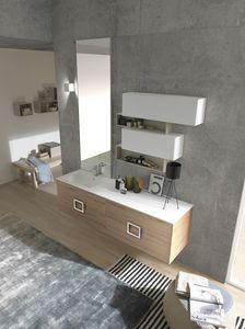 Lime Ø comp.47, Badezimmermöbel mit sauberem und elegantem Design