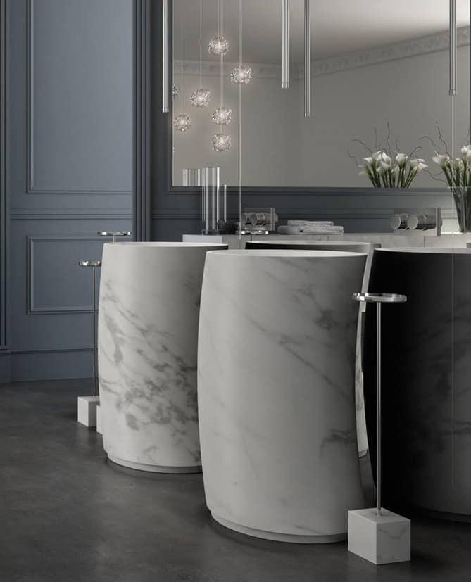 Waschbecken Mit Carrara-Marmor