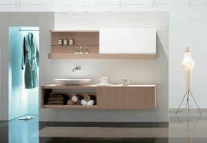 Slide 03, Elegante Zusammensetzung für Badezimmer, mit gebleichten Eiche