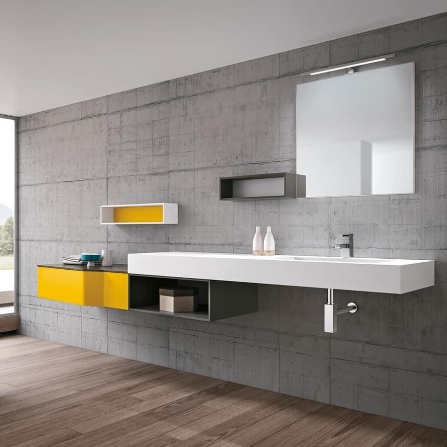 Badezimmermöbel Mit Waschbecken In Tecnoril