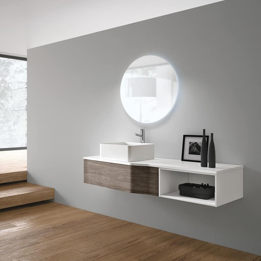 Badmobel Modern Mit Keramischem Waschbecken Idfdesign