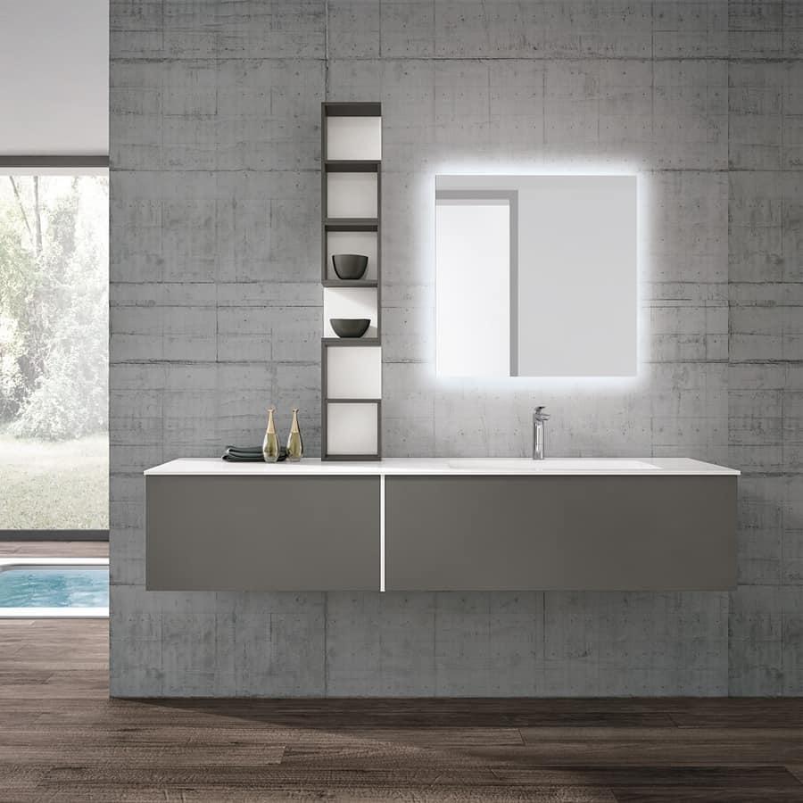 badm bel modern mit beleuchtetem spiegel idfdesign. Black Bedroom Furniture Sets. Home Design Ideas