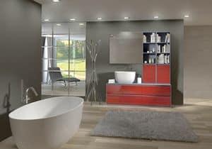 Torana TR 009, Badmöbel mit Waschbecken und Bibliothek