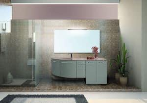 Bild von Venere comp.02V, zusammensetzung-mit-spiegel-und-waschbecken