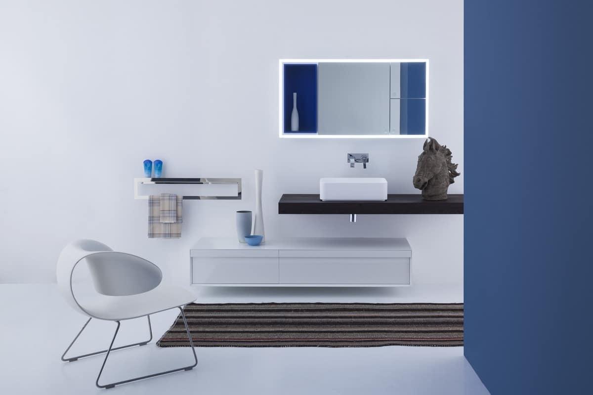 Praktische ablagespiegel für badezimmer idfdesign