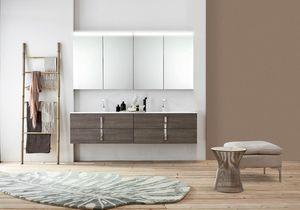 Byte 2.0 comp.08, Badezimmerschrank mit Doppelwaschbecken