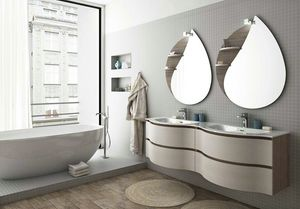 COMPONIBILE 8, Doppelwand-Waschtischunterschrank mit Schubladen