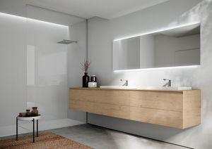 Cubik comp.16, Badmöbel mit zwei Waschbecken, mit eigenem Design