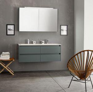 Kami comp.06, Modulare Badezimmerzusammensetzung mit doppelter Wanne