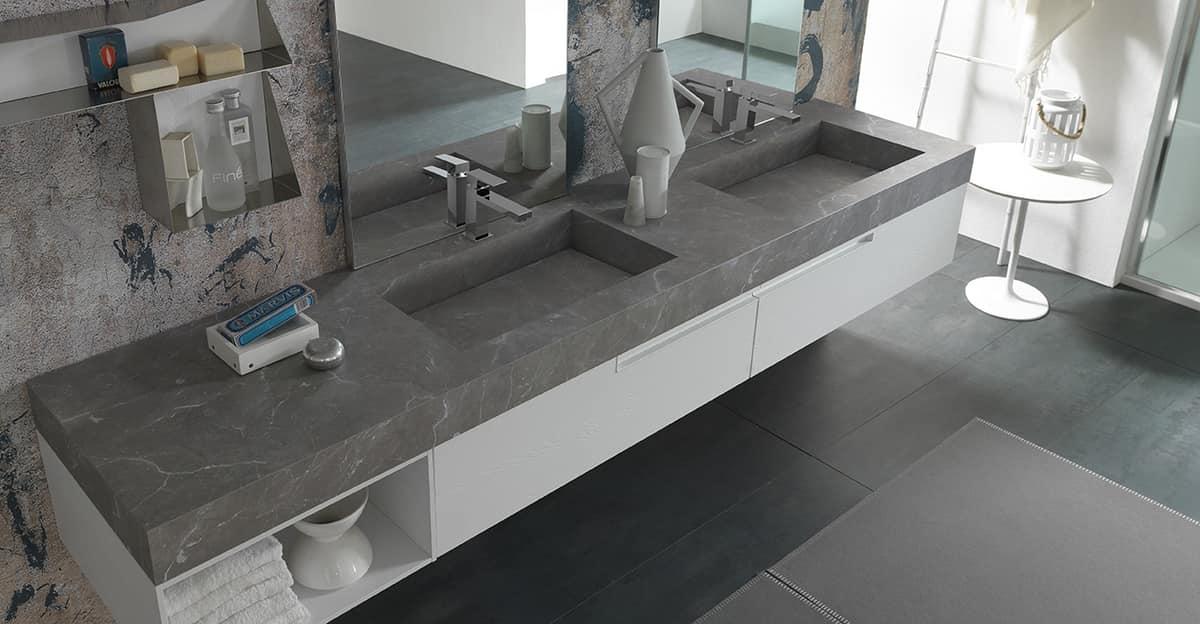 badezimmerm bel mit zwei waschbecken und zwei spiegeln idfdesign. Black Bedroom Furniture Sets. Home Design Ideas