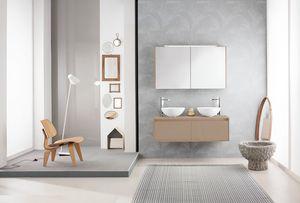 Summit 2.0 comp.11, Badezimmerschrank mit Doppel-Arbeitsplatte