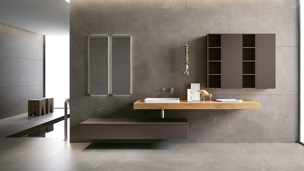 Komplette Möbel für Badezimmer mit Waschbecken | IDFdesign