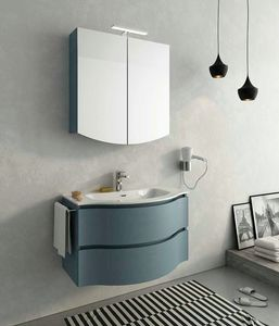 BROADWAY B2, Lackierter Wand-Waschtischunterschrank mit Schubladen