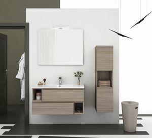 CITY 01, Wand-Waschtischunterschrank mit Schubladen
