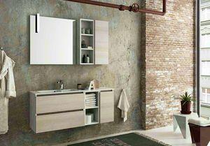 COMPONIBILE 11, Wand-Waschtischunterschrank mit Schubladen