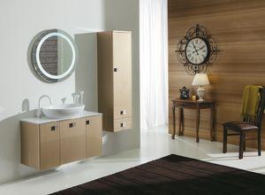 DECÒ D13, Lackierter Waschtischunterschrank mit Türen