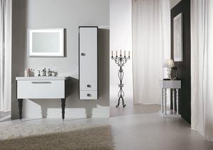 DECÒ D14, Lackierter Waschtischunterschrank mit Schubladen