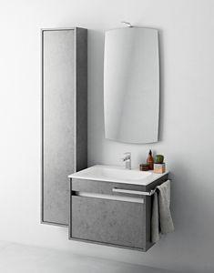 Duetto comp.04, Kleiner Badezimmerschrank mit Spalte