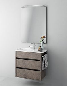 Duetto comp.17, Platzsparender Badezimmerschrank mit Schubladen