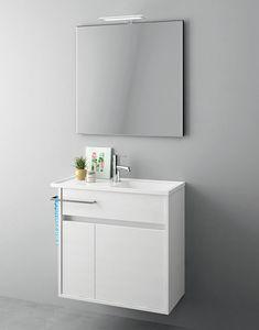 Duetto comp.18, Platzsparende Möbel für kleine Badezimmer