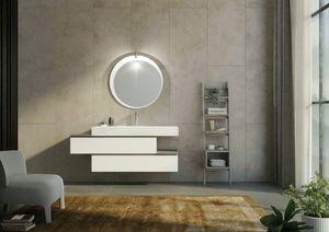 FREEDOM 34, Einzel-Wand-Waschtischunterschrank mit Schubladen