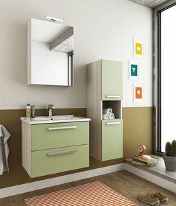 HARLEM H2, Wand-Waschtischunterschrank mit Schubladen