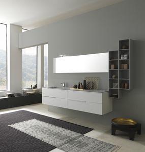 Lime 1.0 comp.03, Badezimmerschrank mit Waschbecken, oben in Deimos