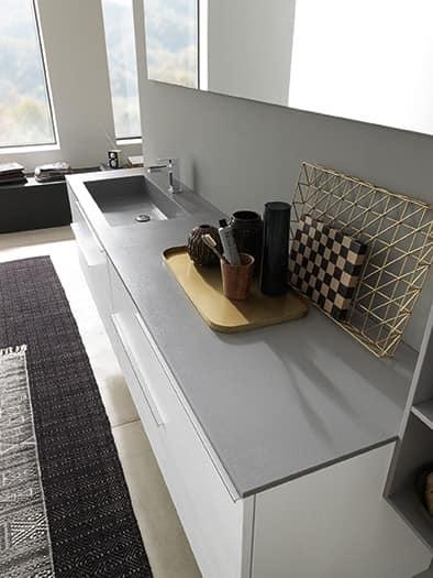 Badezimmerschrank mit waschbecken oben in deimos idfdesign for Badezimmerschrank mit waschbecken
