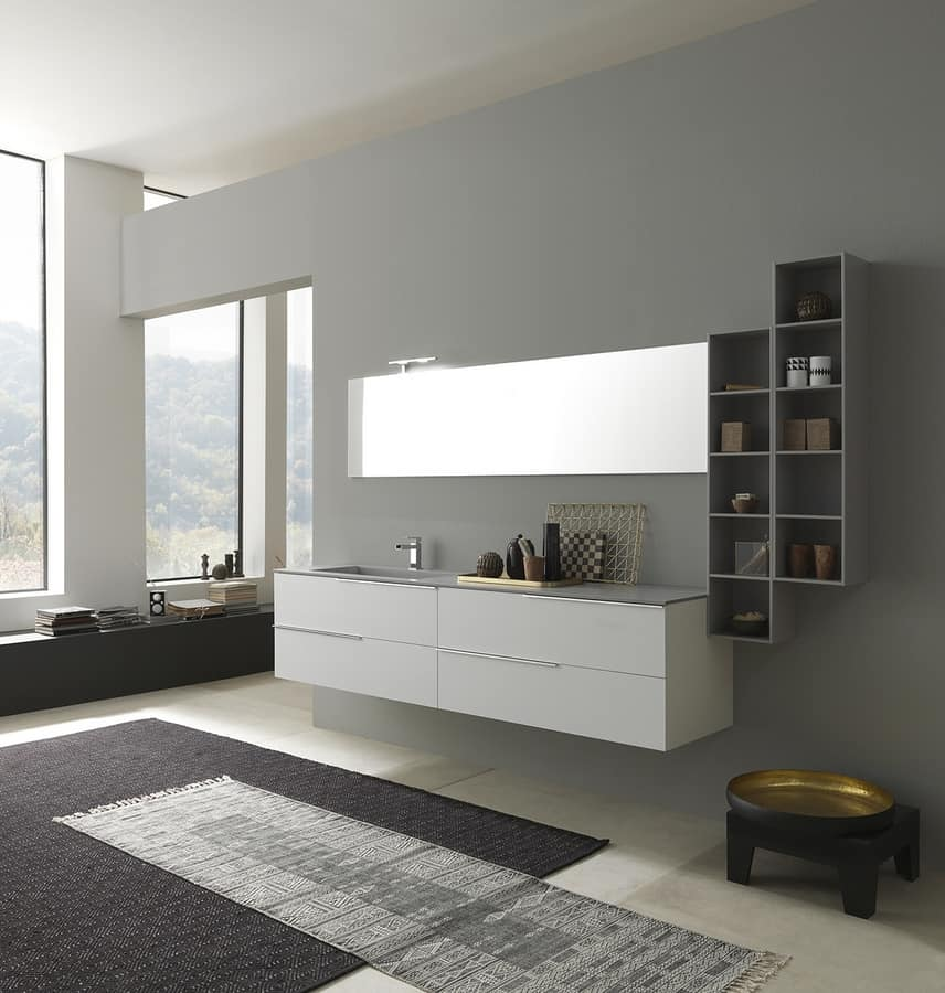 badezimmerschrank mit waschbecken oben in deimos idfdesign. Black Bedroom Furniture Sets. Home Design Ideas