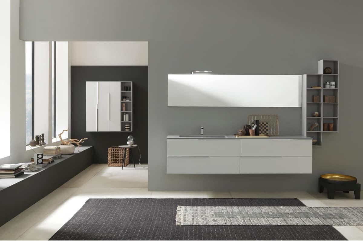 badezimmerschrank mit waschbecken oben in deimos idfdesign. Black Bedroom Furniture Sets. Home Design Ideas