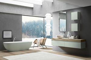 Lime 2.0 comp.19, Badezimmerschrank mit runder Tecnoril Waschbecken