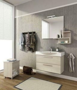MANHATTAN M8, Wand-Waschtischunterschrank mit Schubladen