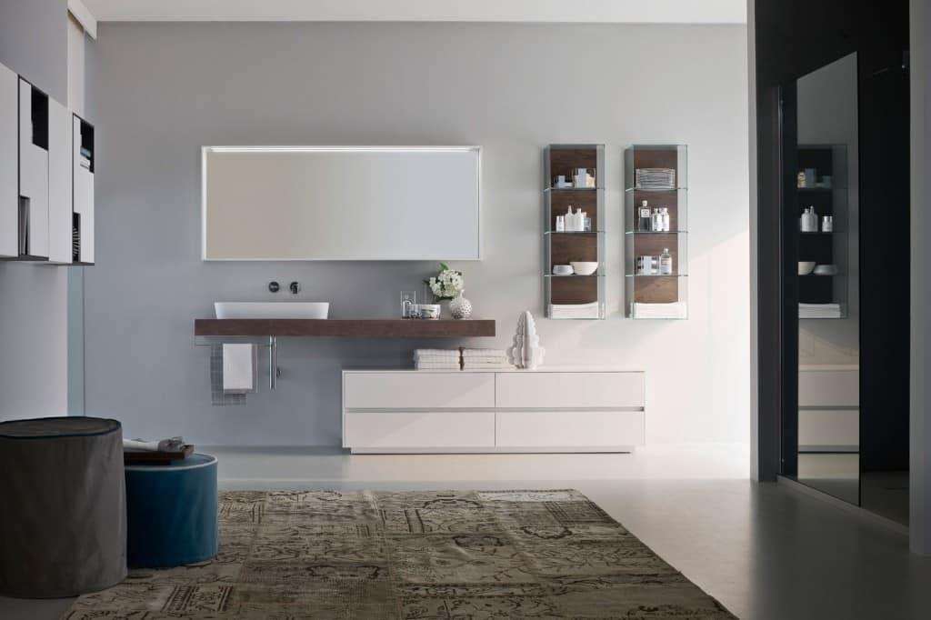 Badezimmermöbel, modular, mit ovalen keramischen Waschbecken | IDFdesign