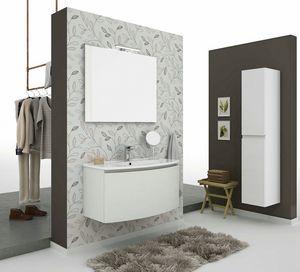 ROUND 01, Wand-Waschtischunterschrank mit Schubladen