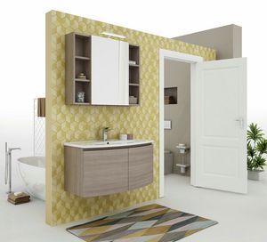 ROUND 06, Hängender Waschtischunterschrank mit Türen