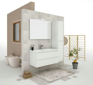 SOFT 05, Wand-Waschtischunterschrank mit Schubladen