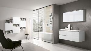 SWING SW-10, Komplette Badezimmermöbel mit Spiegel