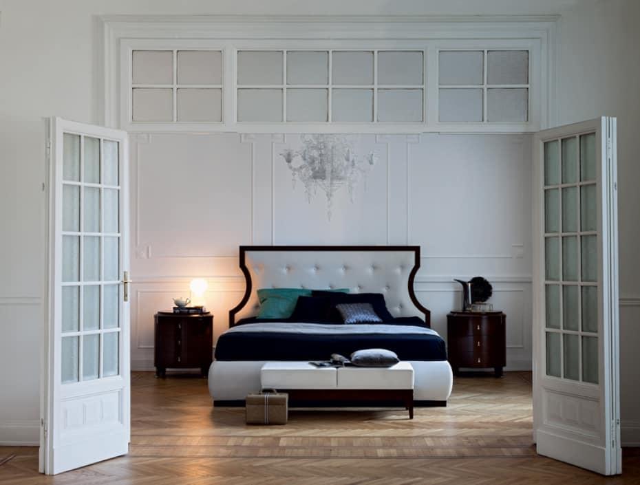 Dante Bank, Gepolsterte Bank, geeignet für Schlafzimmer
