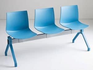 Kanvas PG, Stuhl am Balken, Polymerhülle, für Warteräume