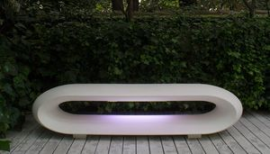 Loop Light, Gartenbank mit LED-Licht
