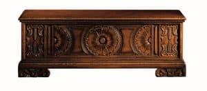 Pitigliano ME.0812, Siena Brust in geschnitzt Nussbaum, für klassische Villen