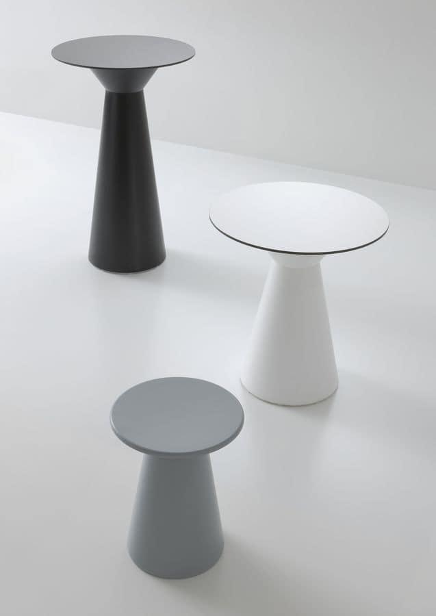 Roller tavolo 74, Stehtisch in Polymer, compactop platte