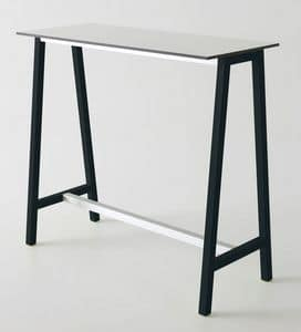 Step, Stehtisch aus Metall und Polymer, für Bars