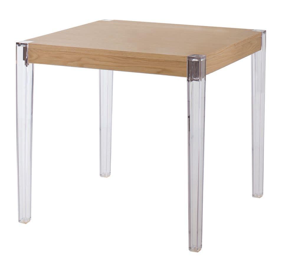 Together, Tabelle mit Polycarbonat Beine Holzplatte